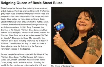 Reiging Queen of Beale Street